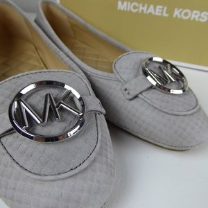 Michael Kors Lillie Leather Embossed Moc Moccasin